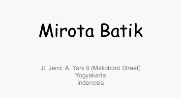 Mirota Batik Yogyakarta