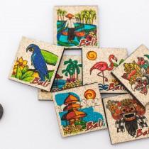 Natural sand fridge magnet collection - Bali