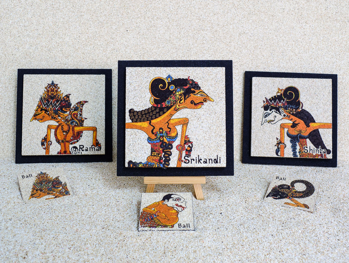 Natural sand wall decoration - Wayang Kulit Series